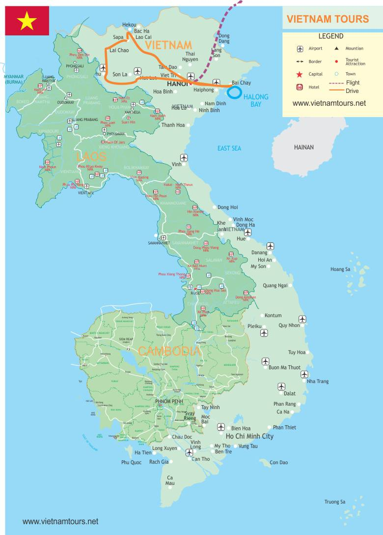 Vietnam on physical map league of legends map delights of northern vietnam 10 days map north vietnam adventure 617e8 delights of northern vietnam 10 publicscrutiny Images