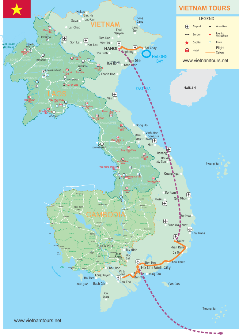 Map Vietnam Holidays f1ea7